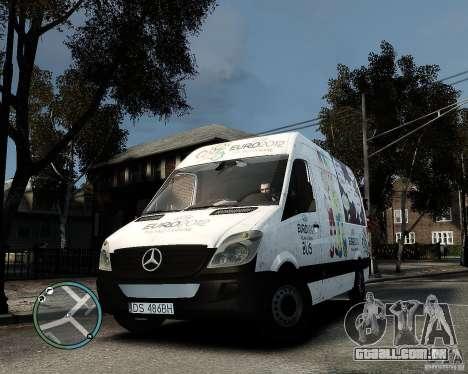 Euro 2012 Bus Mercedes Sprinter para GTA 4