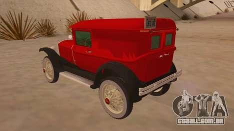 Pearce 1931 para GTA San Andreas traseira esquerda vista
