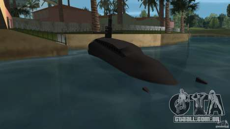 Vice City Submarine with face para GTA Vice City vista traseira esquerda