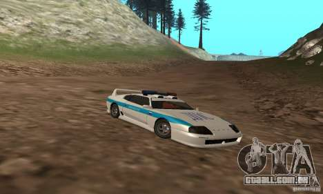 Jester Russian Police para vista lateral GTA San Andreas