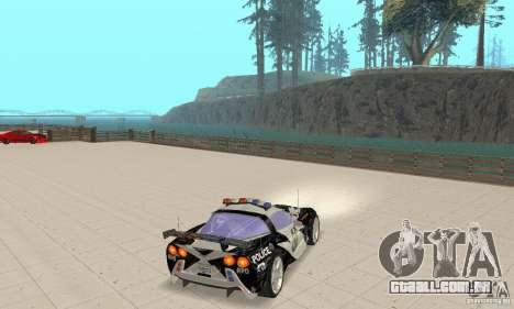 Chevrolet Corvette C6 áspero (NFS MW) para GTA San Andreas vista direita