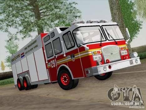 E-One F.D.N.Y Fire Rescue 1 para GTA San Andreas esquerda vista