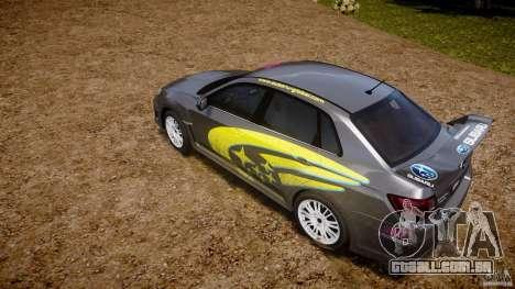 Subaru Impreza WRX STi 2011 Subaru World Rally para GTA 4 vista superior