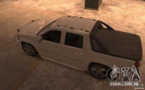 Chevrolet Avalanche v1.0 para GTA 4 traseira esquerda vista