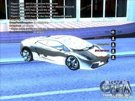 Série ENB para placa de vídeo fraca para GTA San Andreas quinto tela