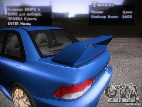 Subaru Impreza 22b Tunable para GTA San Andreas vista inferior