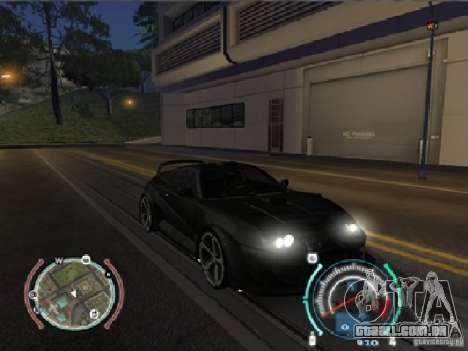 Toyota Supra 2006 Most Wanted para GTA San Andreas traseira esquerda vista