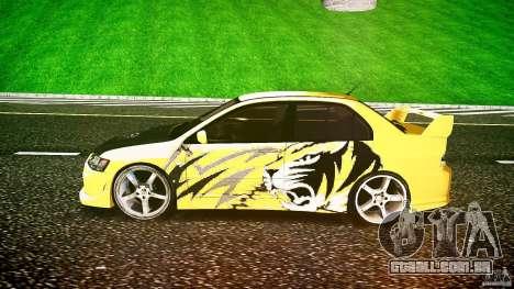 Mitsubishi Lancer Evolution para GTA 4 vista interior