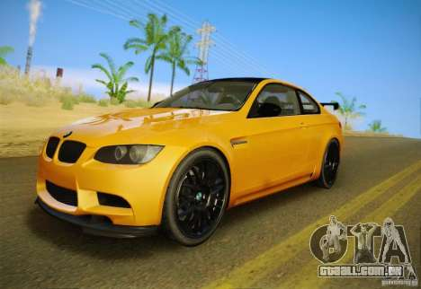 BMW M3 GT-S Final para GTA San Andreas vista interior