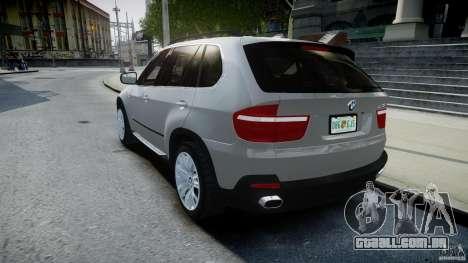 BMW X5 Experience Version 2009 Wheels 223M para GTA 4 traseira esquerda vista