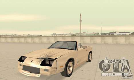 Chevrolet Camaro RS 1991 Convertible para GTA San Andreas vista superior