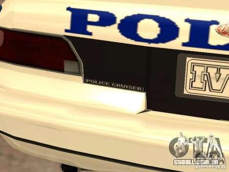 A polícia de GTA4 para GTA San Andreas vista superior