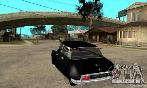 Citroen ID 19 para GTA San Andreas traseira esquerda vista
