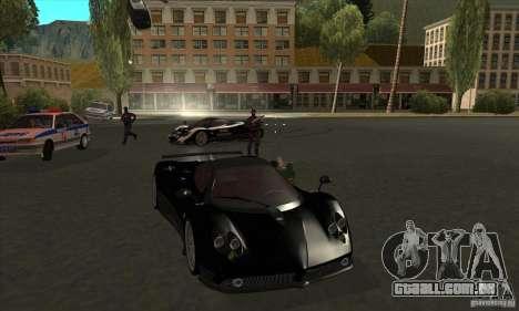 Pagani Zonda F Speed Enforcer BETA para vista lateral GTA San Andreas