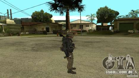 Captain Price para GTA San Andreas quinto tela