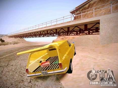 Van de Volga GAZ-24-02 para GTA San Andreas vista traseira