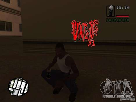 Novas gangues de pichação para GTA San Andreas quinto tela