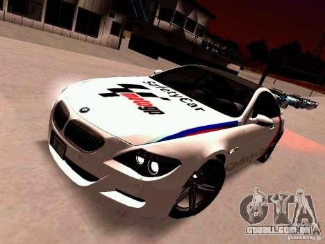 BMW M6 MotoGP SafetyCar para GTA San Andreas esquerda vista