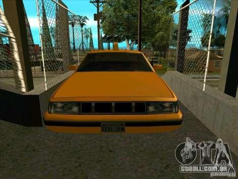 Intruder Taxi para GTA San Andreas vista traseira