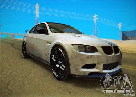 BMW M3 GT-S Final para GTA San Andreas traseira esquerda vista