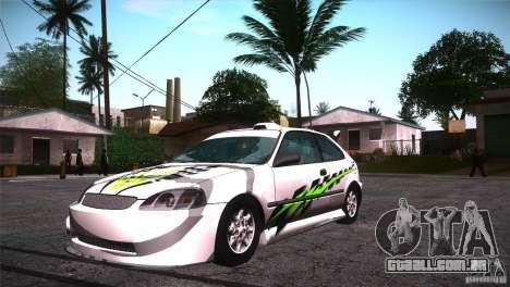 Honda Civic Tuneable para as rodas de GTA San Andreas