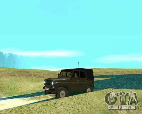 UAZ 31512 para GTA San Andreas traseira esquerda vista