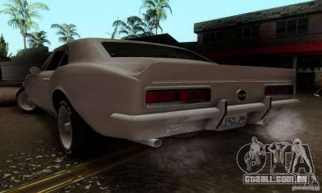 Chevrolet Camaro SS 1967 para GTA San Andreas esquerda vista