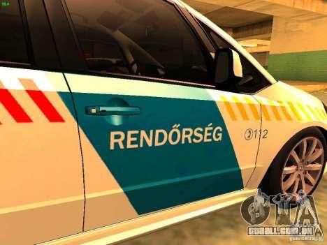 Suzuki SX-4 Hungary Police para GTA San Andreas vista traseira
