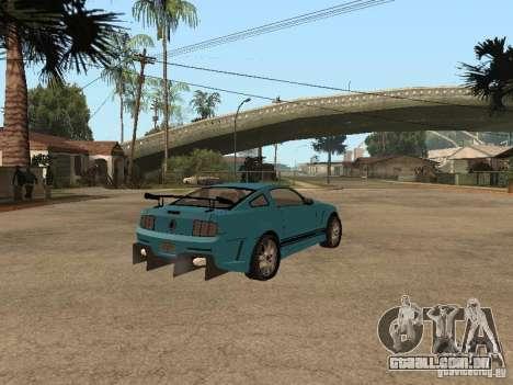 Ford Mustang GT 500 para GTA San Andreas traseira esquerda vista