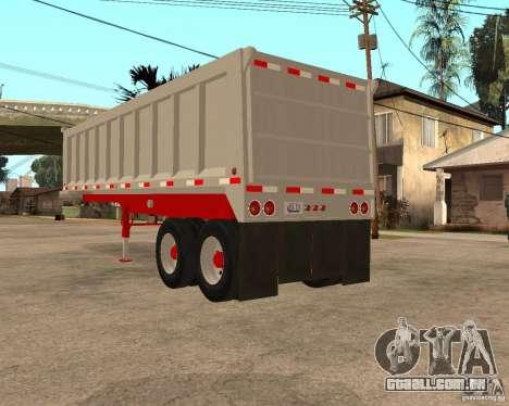 Artict3 Dump Trailer para GTA San Andreas traseira esquerda vista