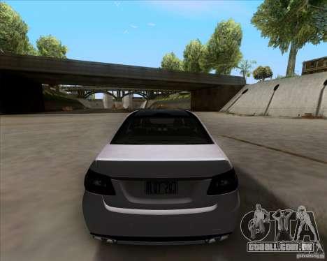 Mercedes-Benz E63 AMG V12 TT Black Revel para GTA San Andreas vista traseira