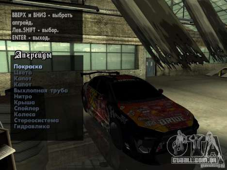 Mitsubishi Lancer Evolution X Drift Spec para GTA San Andreas vista traseira