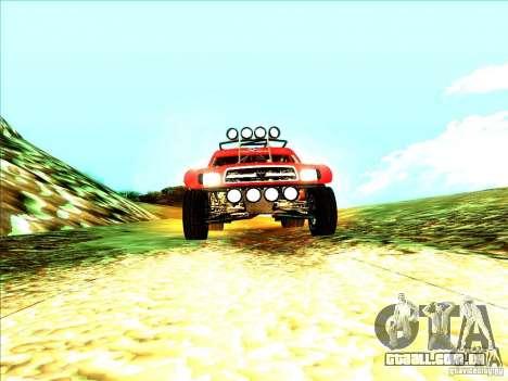 Toyota Tundra Rally para GTA San Andreas vista direita