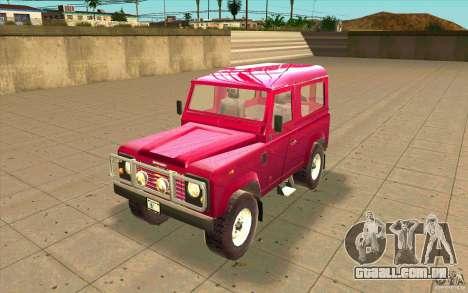 Land Rover Defender 90SW para GTA San Andreas