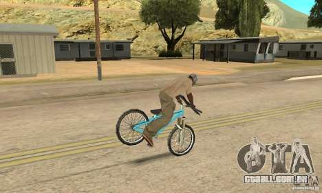 Dirt Jump Bike para GTA San Andreas vista interior