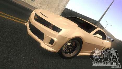 Chevrolet Camaro SS Dr Pepper Edition para GTA San Andreas esquerda vista
