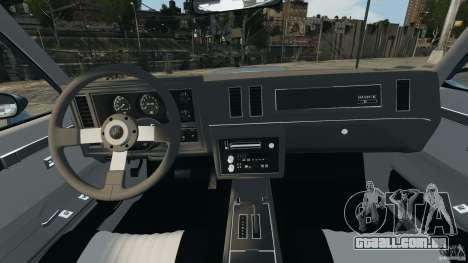 Buick GNX 1987 para GTA 4 vista de volta