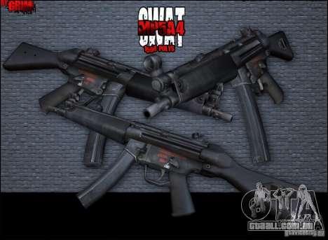 MP5A4 para GTA San Andreas segunda tela