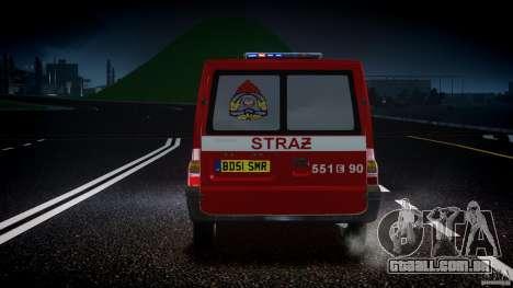 Ford Transit Polish Firetruck [ELS] para GTA 4 vista inferior