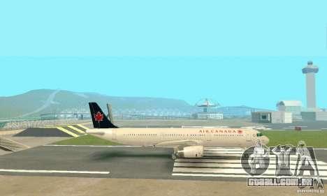 Airbus A321 Air Canada para GTA San Andreas vista interior