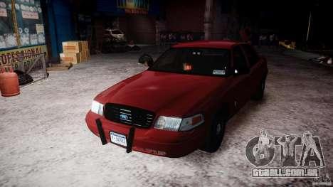 Ford Crown Victoria Detective v4.7 red lights para GTA 4 vista lateral