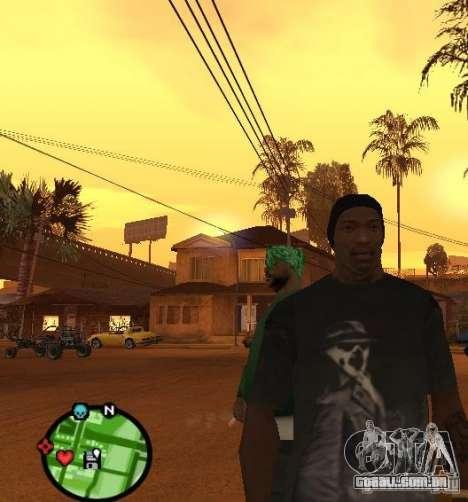 Camisa de Rorschach de Watchmen para GTA San Andreas segunda tela