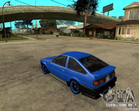 Toyota Corolla AE86 para GTA San Andreas esquerda vista