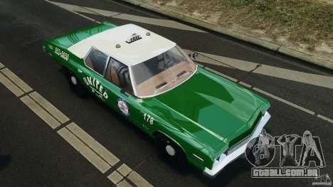 Dodge Monaco 1974 Taxi v1.0 para GTA 4 rodas