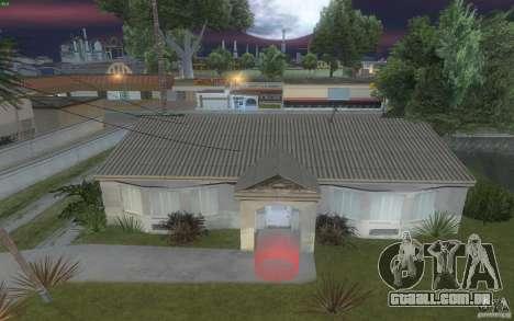 Quatro casas novas na Grove Street para GTA San Andreas por diante tela