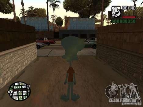 Lula Molusco para GTA San Andreas por diante tela