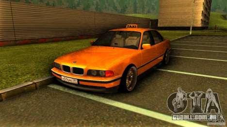 BMW 730i Taxi para GTA San Andreas