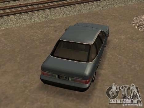 Mercury Sable GS 1989 para GTA San Andreas vista interior