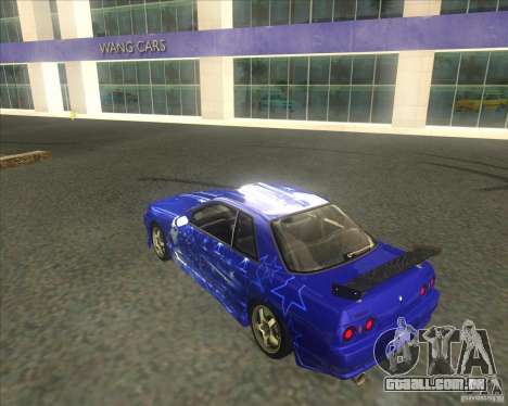 Nissan Skyline R32 GTS-T type-M para GTA San Andreas vista superior