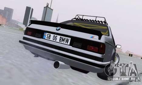 BMW M635CSi Stanced para GTA San Andreas vista direita